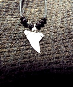 Shark Tooth Necklace Pendant Handmade Real Jewelry Sea Ocean Beach