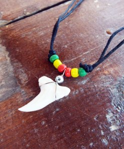 Shark Tooth Necklace Pendant Jamaican Handmade Real Jewelry Sea Ocean Beach