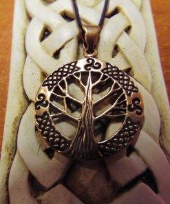Tree of Life Pendant Bronze Celtic Necklace Handmade Symbol Jewelry