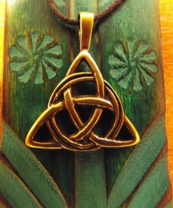 Triquetra Pendant Symbol Celtic Magic Handmade Bronze Jewelry Necklace 2