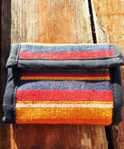 Wallet Handmade Purse Pouch Unisex Pure Cotton Hippie Bohemian Striped