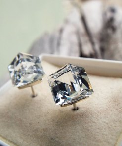 Zircon Earrings Studs Silver Gemstone Sterling 925 Stone Diamond Handmade Jewelry σκουλαρικια ζιργκον