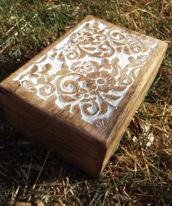 Box Wooden Jewelry Carved Handmade Balinese Home Decor Indian Floral Trinket Treasure Chest