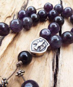 Komboloi Greek Worry Beads Amethyst Prayer Beads Rosary Beads Turkish Tasbih Handmade Gemstone