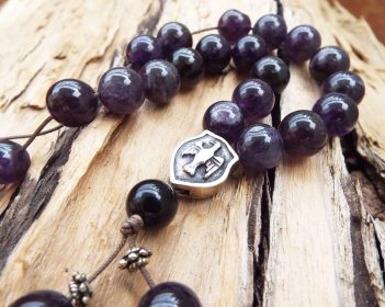 Komboloi Greek Worry Beads Amethyst Prayer Beads Rosary Beads Turkish Tasbih Handmade Gemstone