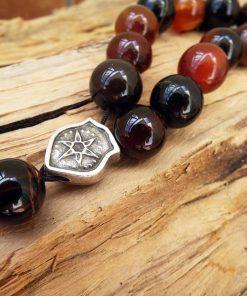 Komboloi Greek Worry Beads Carnelian Agate Prayer Beads Rosary Beads Turkish Tasbih Handmade Gemstone