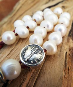 Komboloi Greek Worry Beads  Saltwater Pearl Prayer Beads Rosary Beads Turkish Tasbih Handmade Gemstone