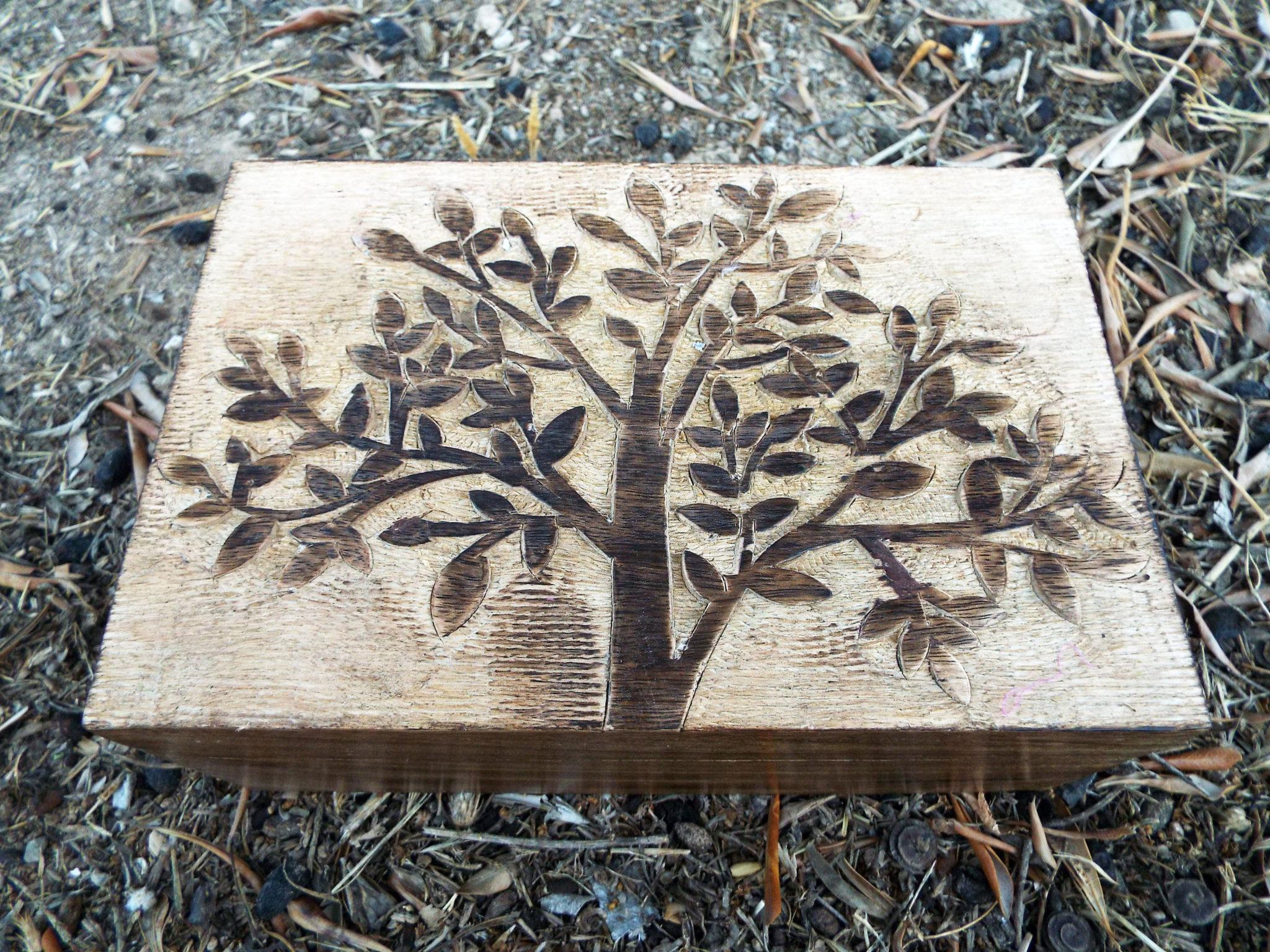 Tree Of Life Wooden Box