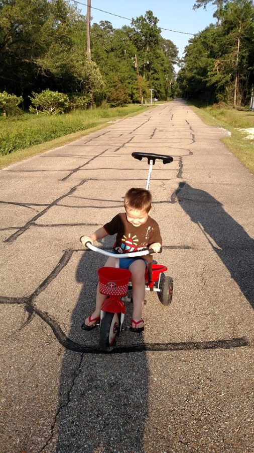 Oliver learned to ride his bike on my birthday!