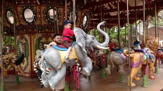 Carousel at the zoo