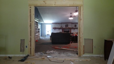 Doorway in progress
