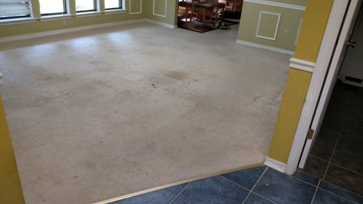Dining Room Before. Look at that nasty carpet!