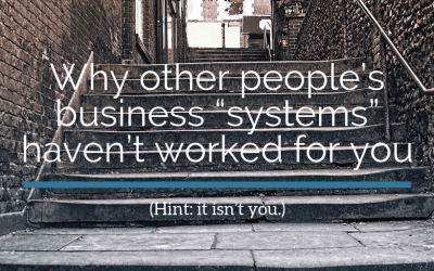"Why other people's business ""systems"" haven't worked for you"