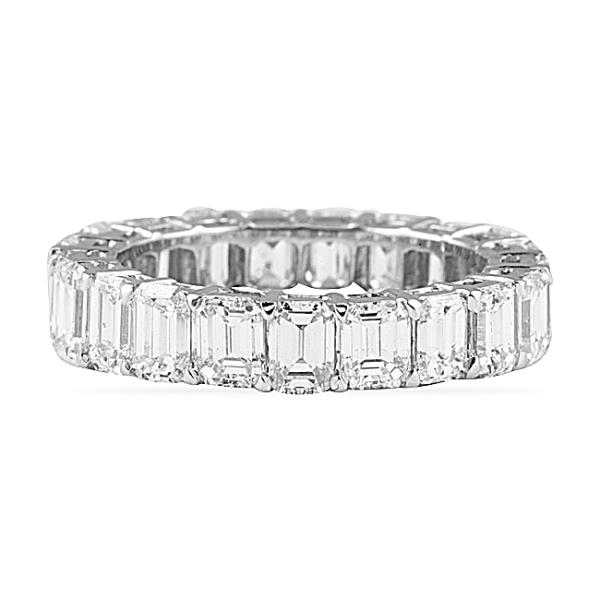 555 CT EMERALD CUT DIAMOND ETERNITY BAND
