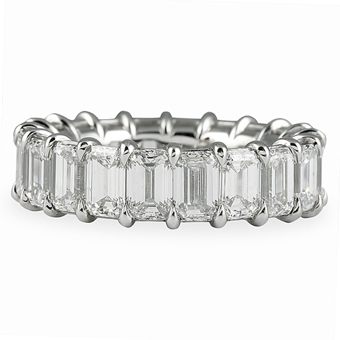 626 CT EMERALD CUT ETERNITY BAND