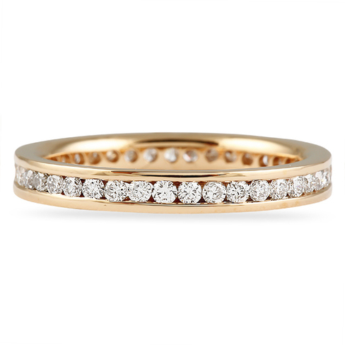 60 CT ROUND DIAMOND ROSE GOLD ETERNITY BAND