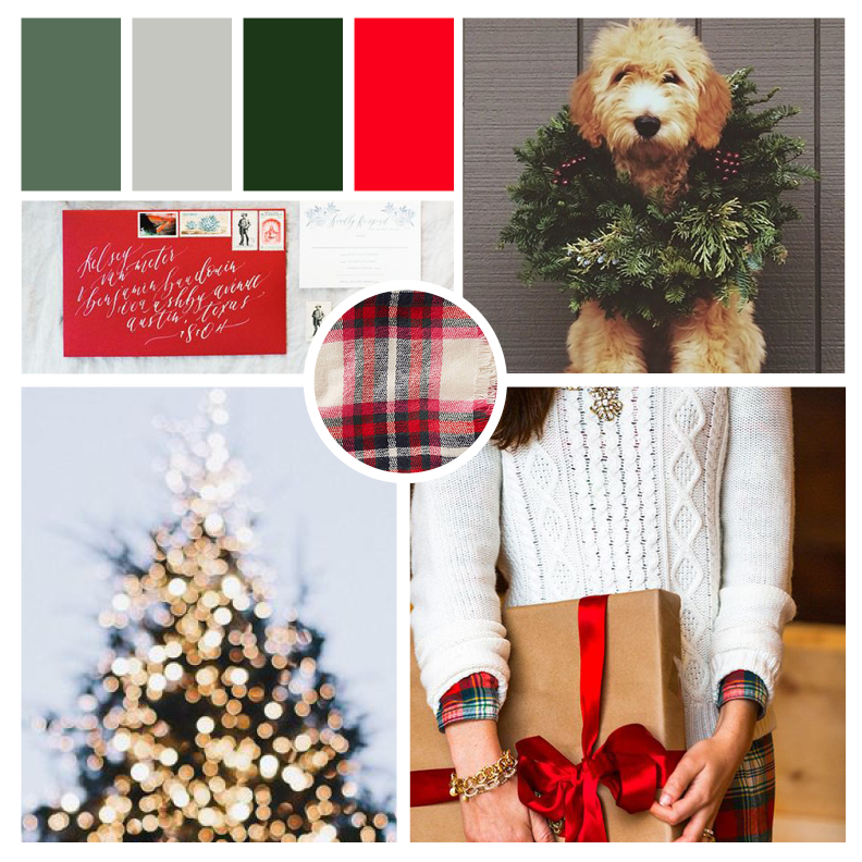 a classic christmas moodboard