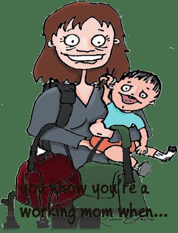 Working mom doodle