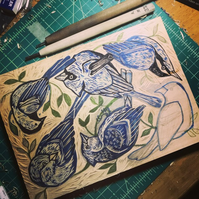 carving woodcut