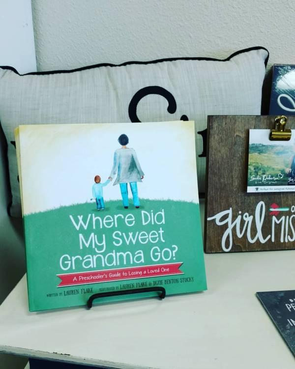 sweet grandma book at the stitch shoppe buda