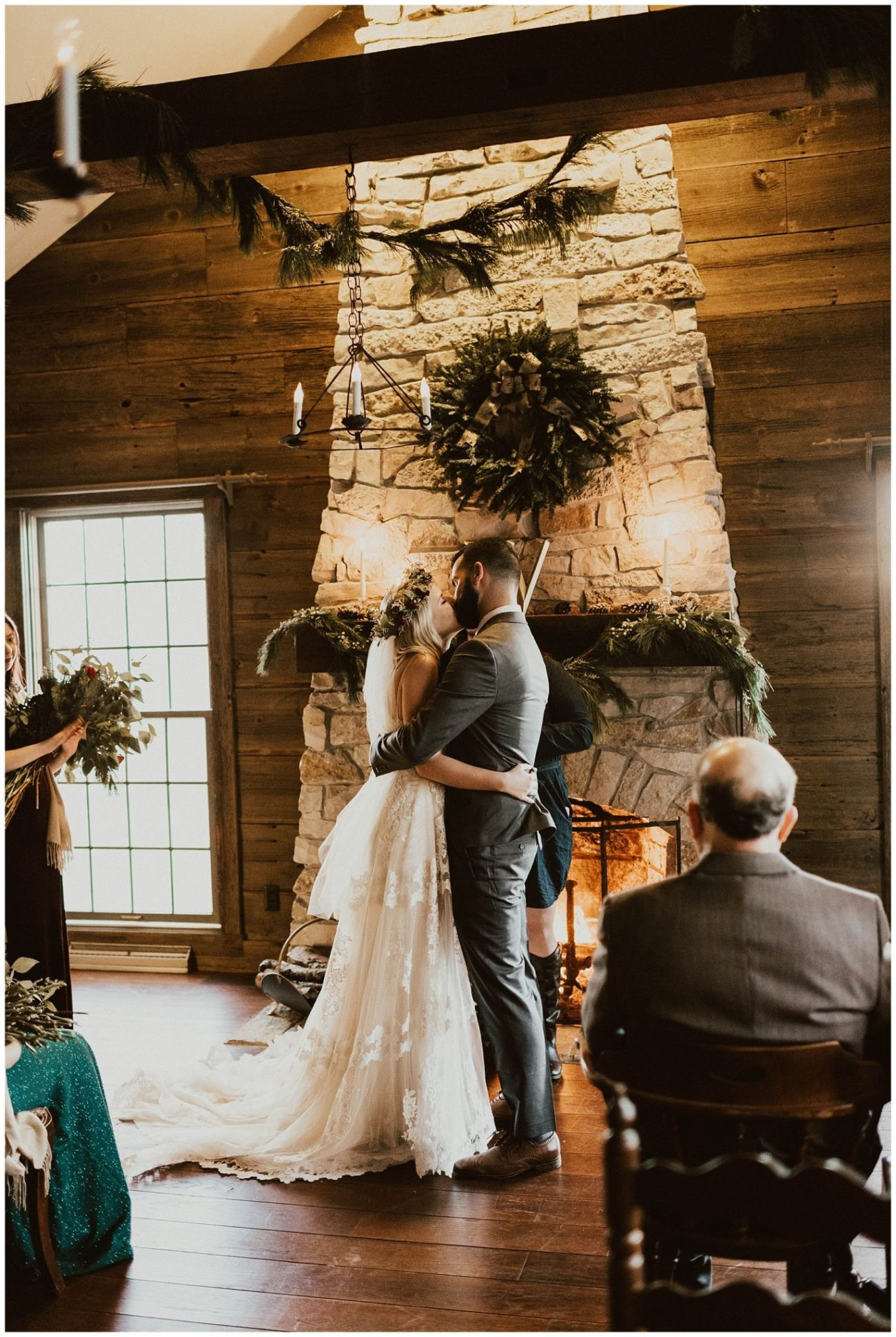 d56525a135 Hannah + Brian // Christmas Cabin Wedding - Lauren F.otography ...
