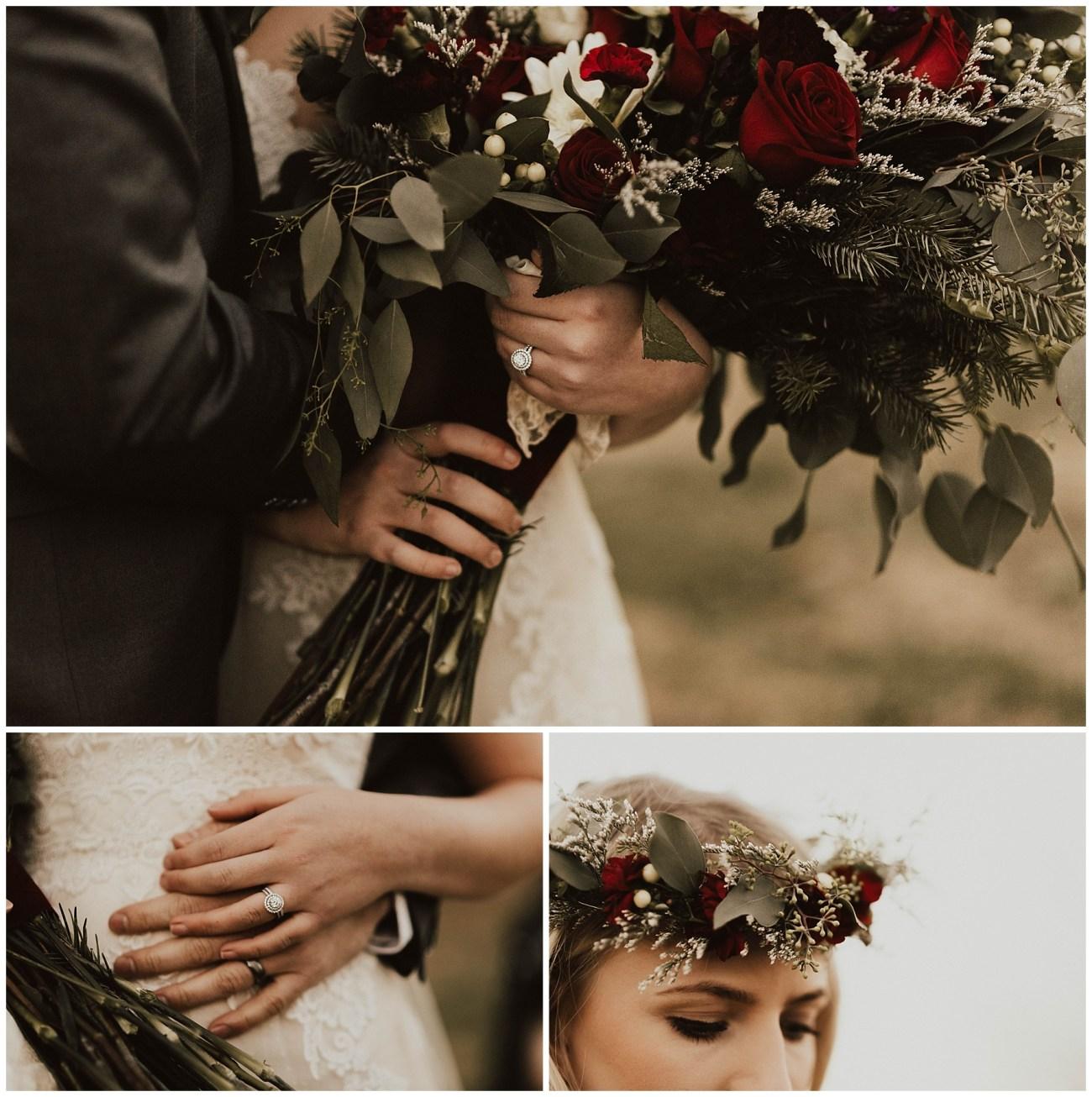 717e826b1 Hannah + Brian    Christmas Cabin Wedding - Lauren F.otography