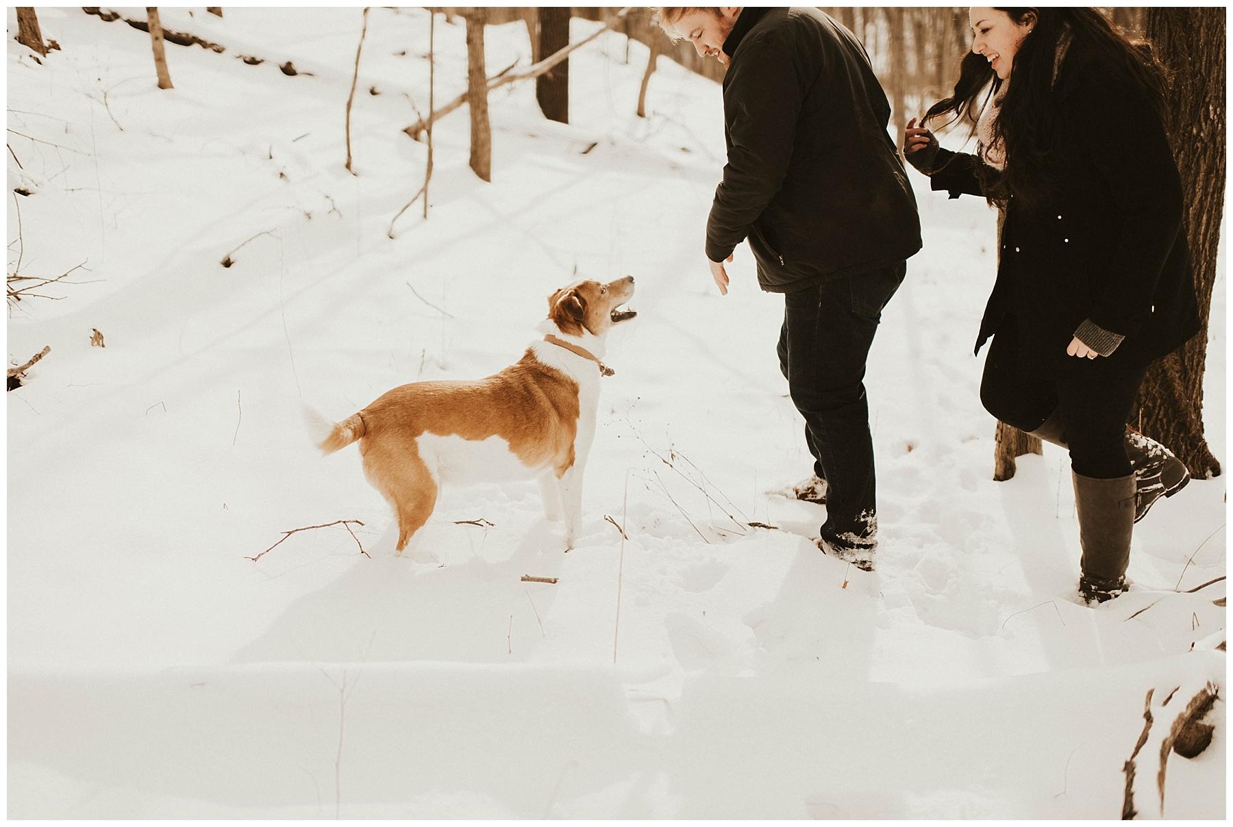 ced76cae3 Ben + Lainee    Winter Engagements - Lauren F.otography