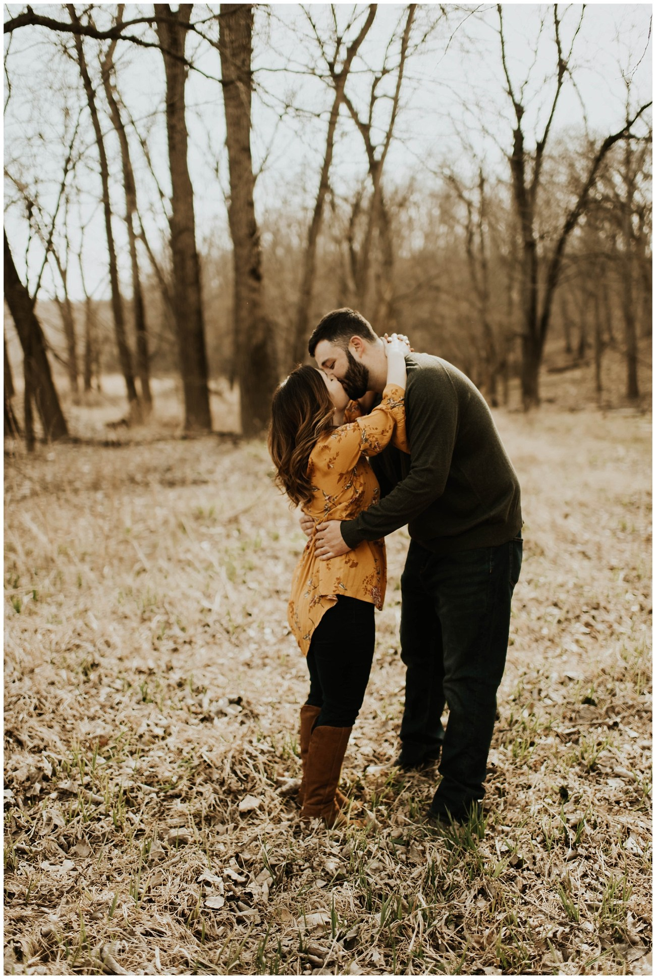 2ac9513738f5 Charlie + Tiffany    Engagements in the woods – Lauren F.otography