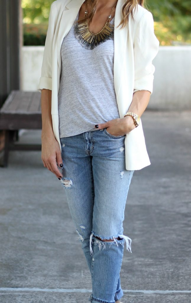 Dressing Up Distressed Denim