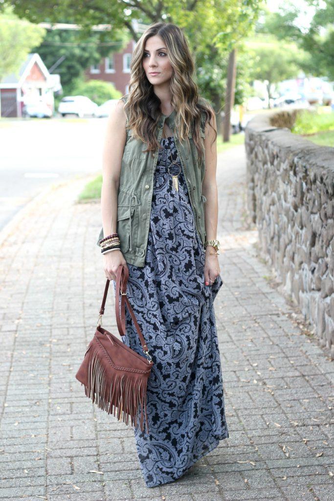Jessica Simpson Strapless Empire Waist Maternity Maxi, Destination Maternity, Maternity Fashion