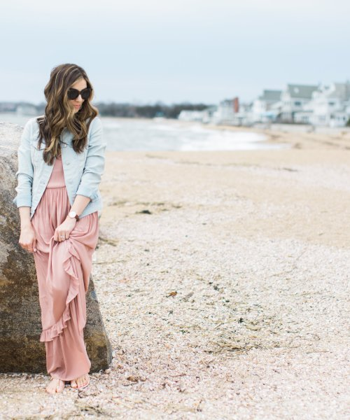 Style // Ruffled Maxi Dress and Helen Ficalora Giveaway