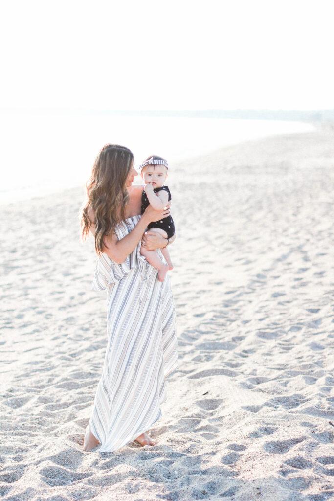 Evereve Allison Joy Vertical Stripe Double Tier Dress