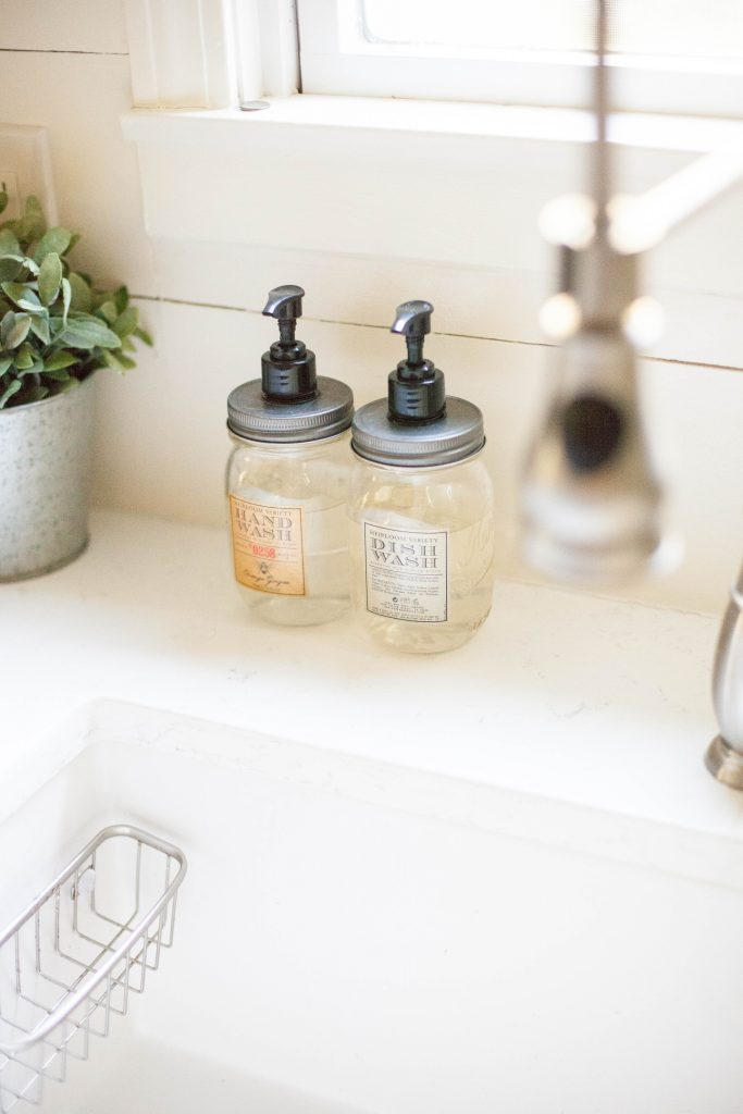 Mason jar soap dispensers for hand and dish soap from World Market