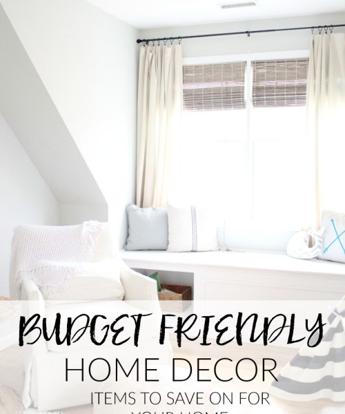 Home // Budget Friendly Home Decor and Where to Find It