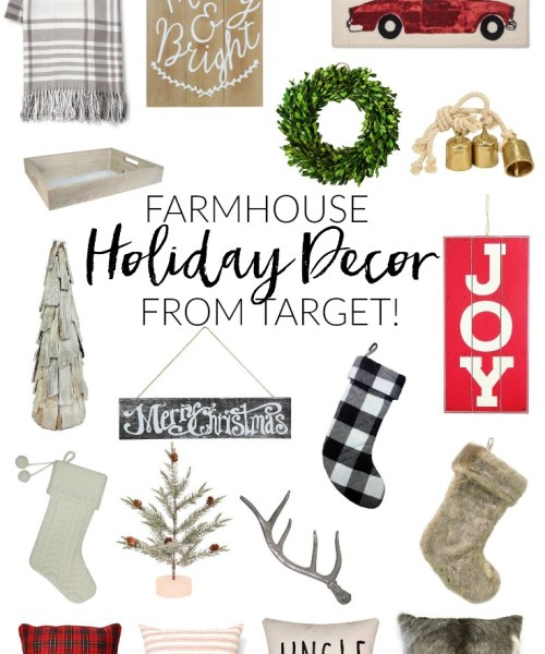Home // Farmhouse Holiday Decor from Target