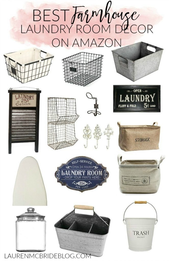 Laundry Decor Home  Best Farmhouse Laundry Room Decor On Amazon  Lauren Mcbride