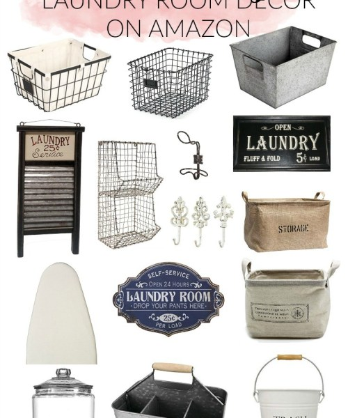 Home // Best Farmhouse Laundry Room Decor on Amazon