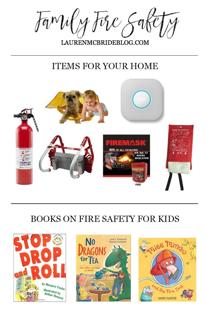 Tips and items you need for family fire safety that could potentially save yourself, your family, and your home in the event of a fire!