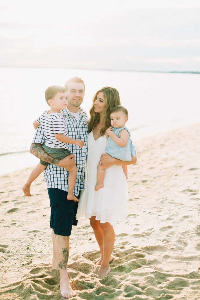 Lauren McBride and family, by Victoria Gloria Photography
