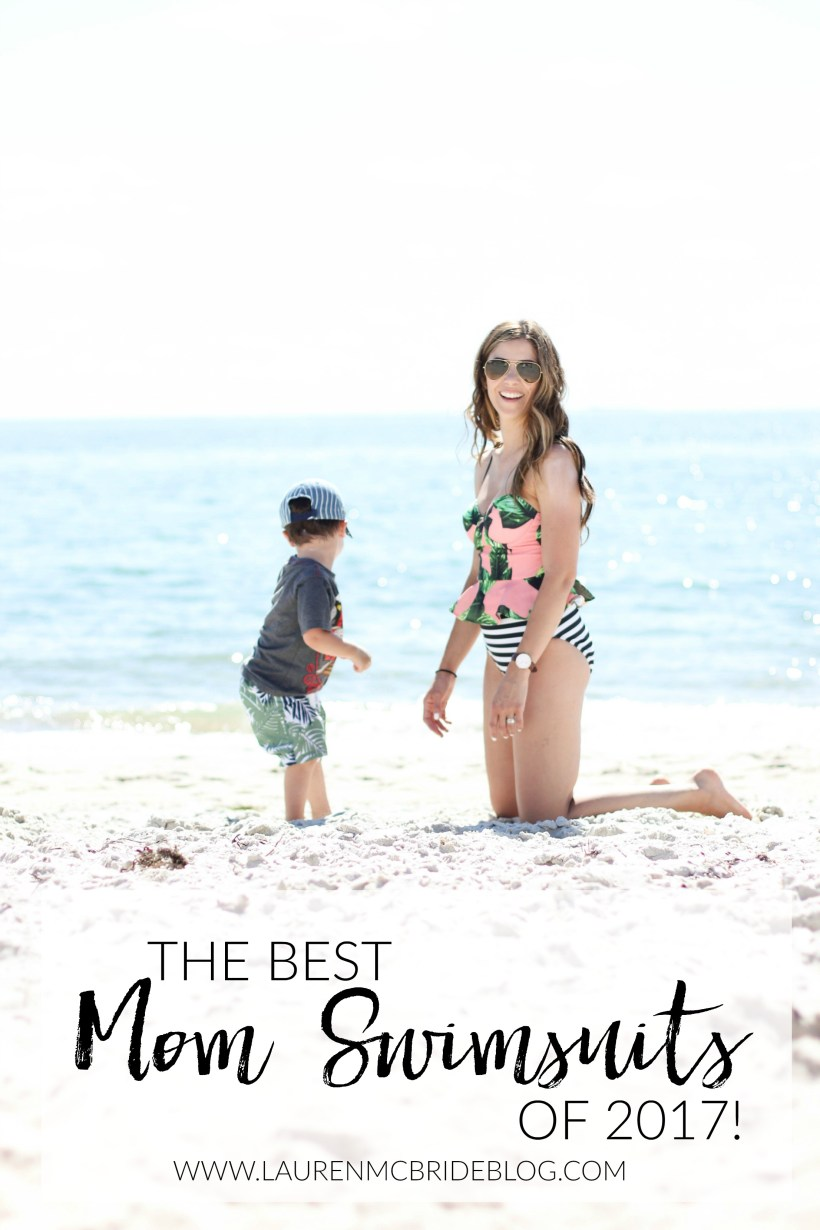 Struggling with finding a swimsuit for your mom bod? Here are the Best Mom Swimsuits for 2017 for all shapes and sizes, including some coverups as well!