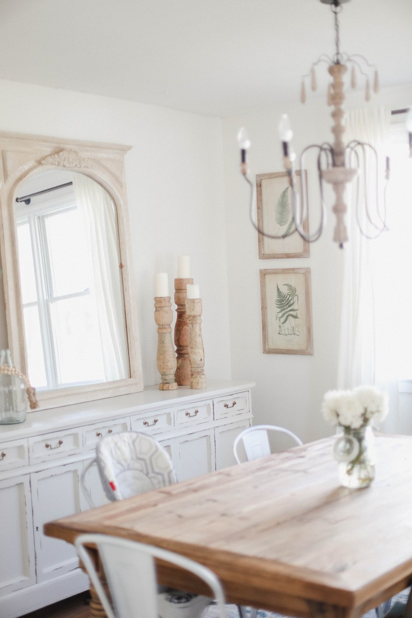Life and style blogger Lauren McBride shares her Spring Cottage Dining Room complete with a list of sources, and including some budget friendly items.