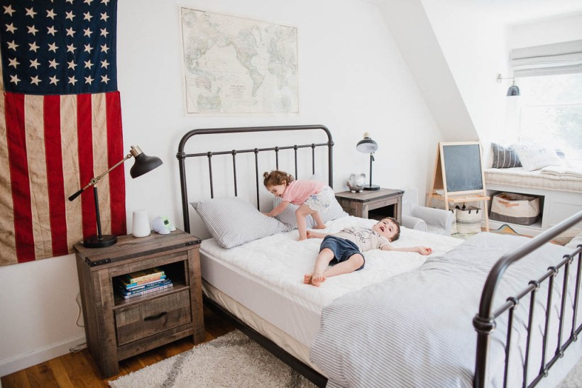 Life and style blogger Lauren McBride shares the bedding basics from The Company Store that she used on her children's bed and why they're important for longevity of bedding products.