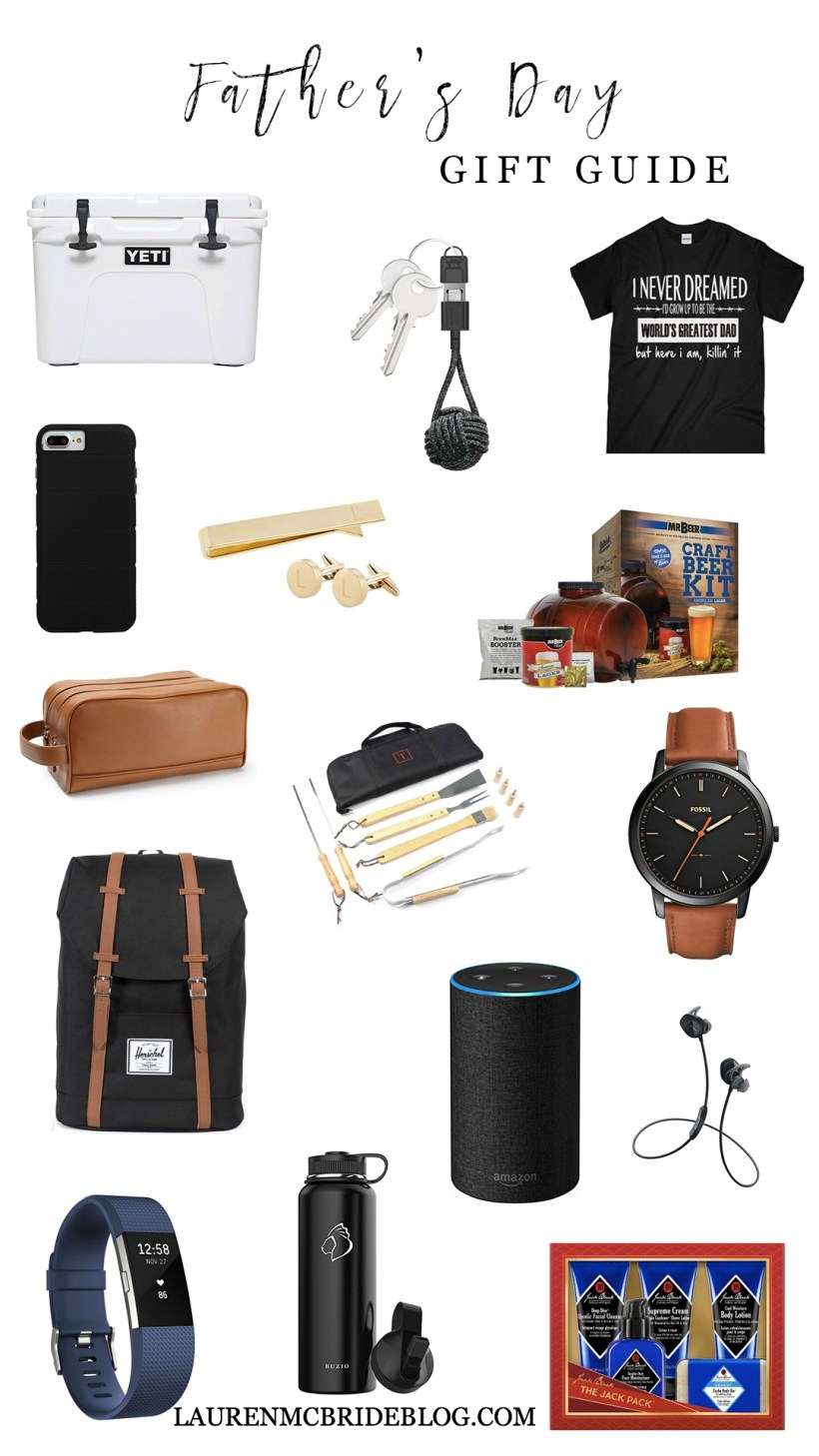 Life and style blogger Lauren McBride shares a Father's Day Gift Guide featuring a wide variety of items and prices for the athlete, grill master, business man, and more.