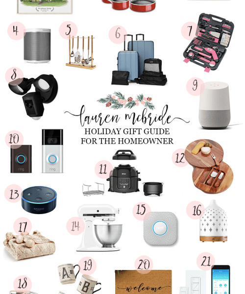 Holiday Gift Guide:  Homeowner