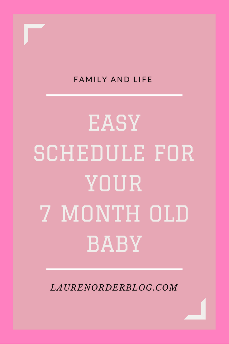 scheduling your baby: 7 months old