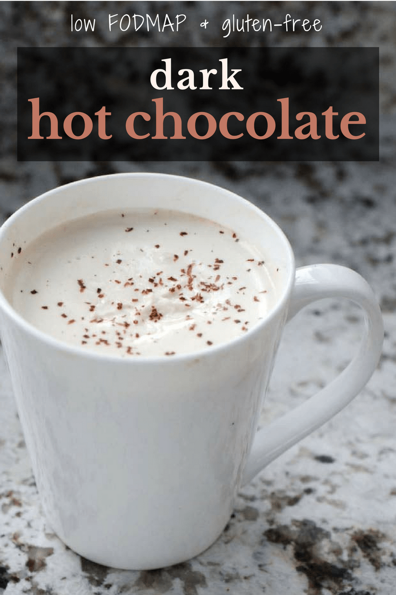 low fodmap dark hot chocolate