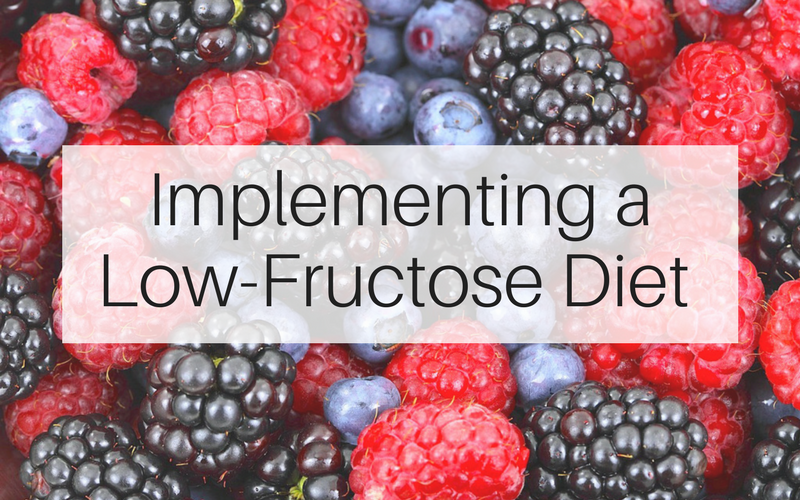 Implementing a Low-Fructose Diet