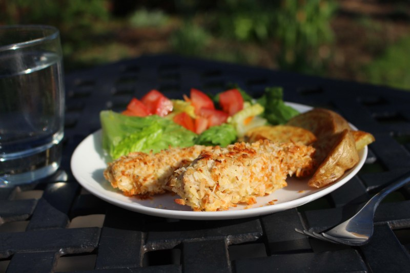 low fodmap coconut chicken strips