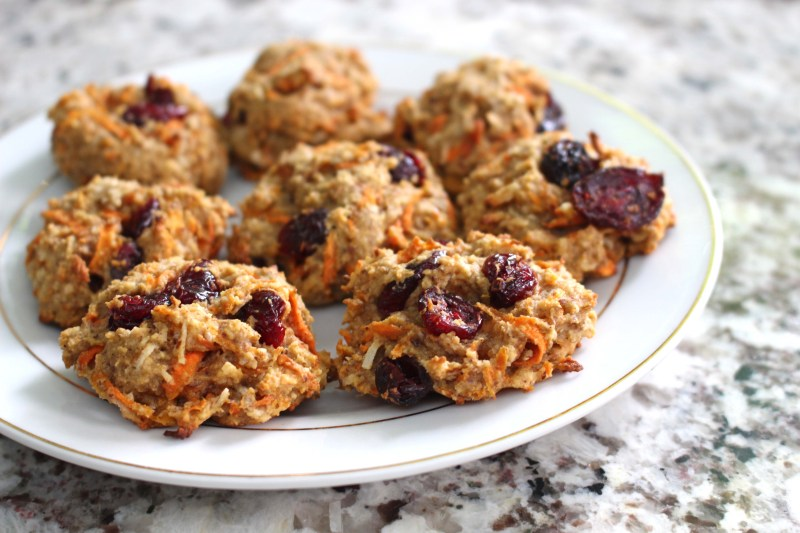 low fodmap healthy carrot cookies
