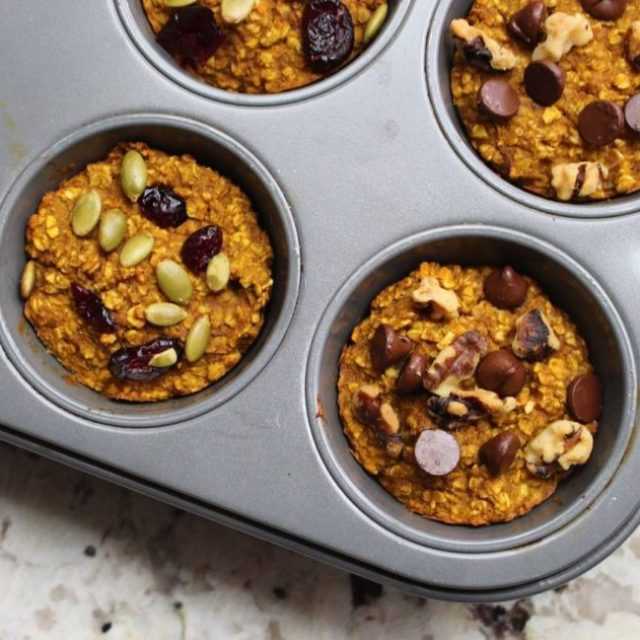 Pumpkin spice baked oatmeal! The ultimate grab n go snackhellip